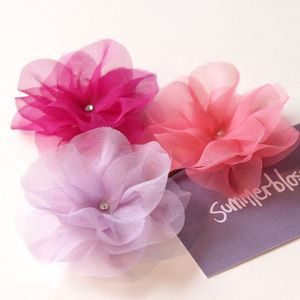 Silk... okay maybe chiffon... flower hairpins in a set of three
