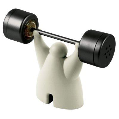 weightlifter combined salt and pepper shaker