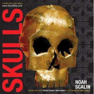 Book cover, skulls