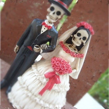 Wedding cake topper—skeletons