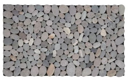 River stones as a doormat