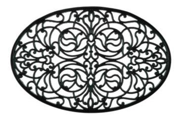 oval rubber doormat