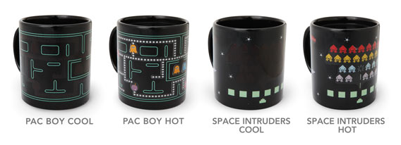 PAC MAN AND SPACE INVADERS MUGS