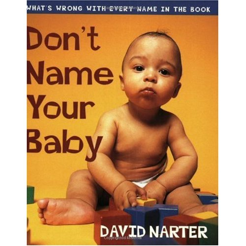 """Don't Name Your Baby"" book cover"
