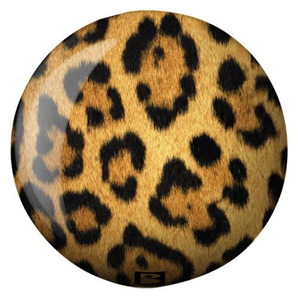 Leopard spots bowling ball