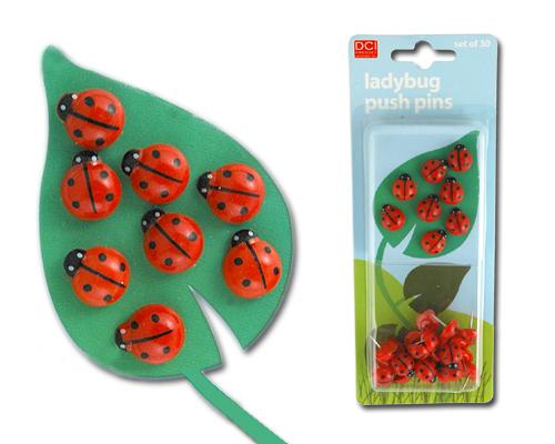 Ladybird push pins