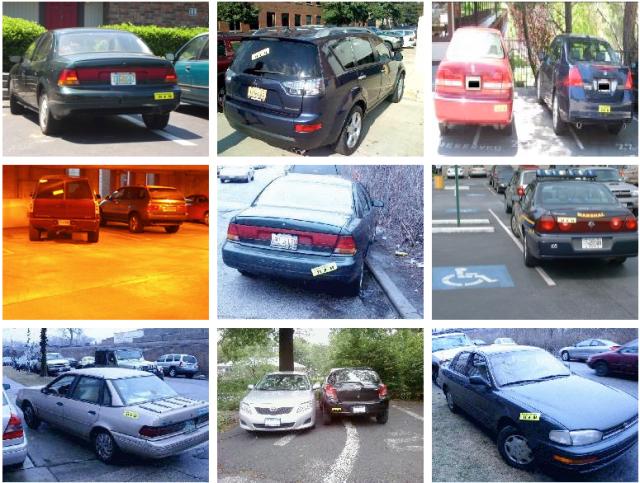 "Bumper sticker ""I park like an idiot"""