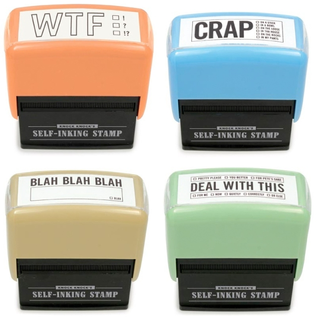 self inking stamps for office fun