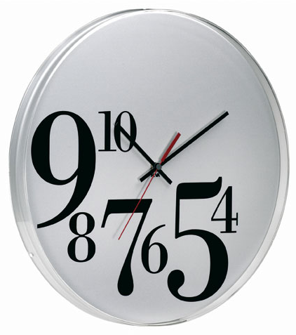 Big Bodoni Wall Clock