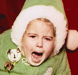 screaming at santa