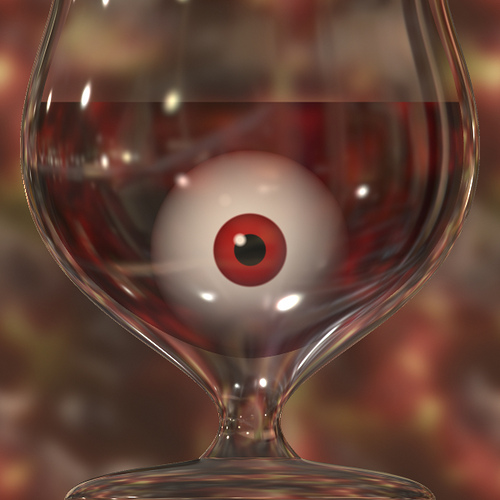 eyeball in a glass