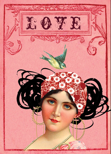Papaya LOVE greeting card