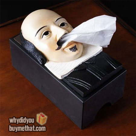 Shakespeare's head tissue dispenser