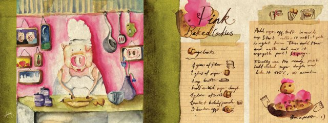 illustrated recipe card