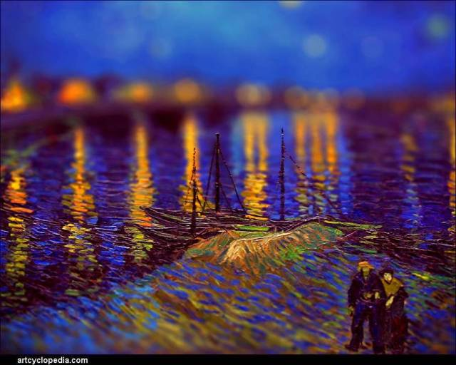 manipulated Van Gogh image