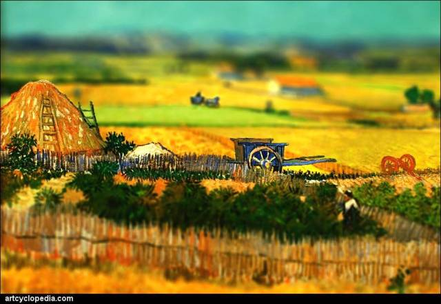 manipulated Van Gogh painting
