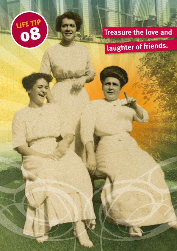 Look Mama card, laughing women