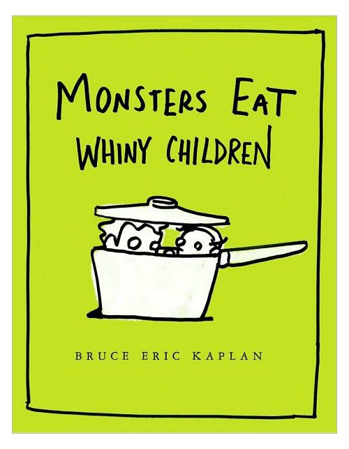 Book cover—Monsters eat whiny children