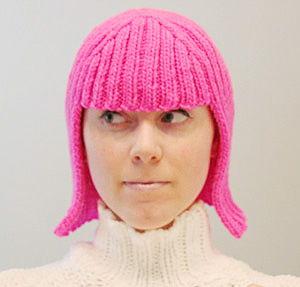 Knitted wig