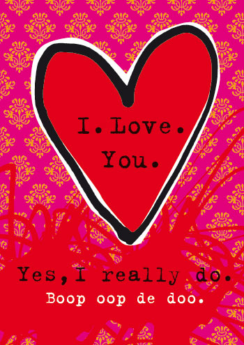Look Mama! card, I love you, I really do. Boop oop de doo.