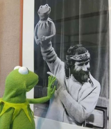 Kermit the frog misses Jim Henson.