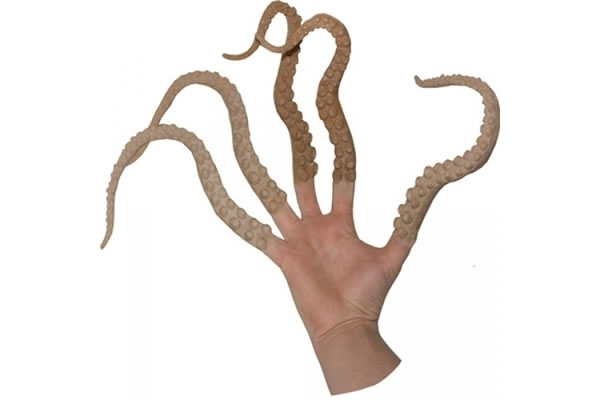Finger puppets that look like squid tentacles.
