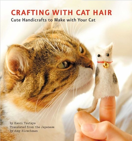 Book, creating with cat hair (yes really)