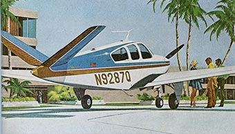 Beechcraft Bonanza airplane