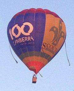 Canberra 100 balloon
